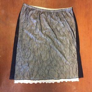 Guess Black & White Overlay Skirt